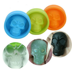 Skull Halloween Silicone Mold for Fondant Gum Paste Chocolate Crafts
