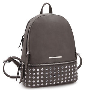 New Dasein Faux Leather Spiked Studded Womens Backpack School Bags Travel Purse