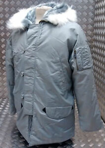 US N3B Military Style ECW Snorkel Parka Grey MODScooterBikers - All Sizes NEW