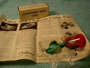 CHALLENGE WING LURE VINTAGE OLD FISHING BAIT TACKLE COLLECT REEL ODD RARE PLUG