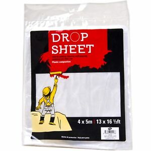 Large 4x5 Metre Painting Plastic Drop Dust Sheet Protector Decoration Covers