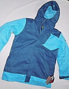 Under Armour mens Cold Gear Infrared Blue Electro snowboard parka Jacket XL