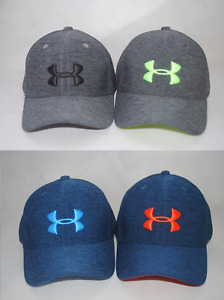 New Under Armour Boys' UA Twist Closer Cap Stretch Fit Youth Golf Hat #1293410