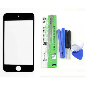 Black front glass lens replacement Repair LCD Screen Tool for iPod Touch