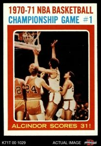 1971 Topps #133 Lew Alcindor - NBA Playoffs Game Bullets (Wizards)  Bucks NMMT