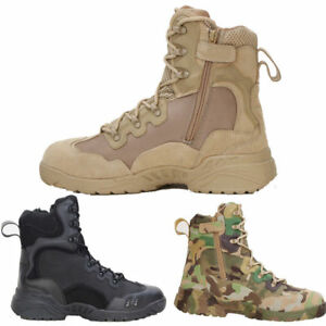 Mens Tactical Military Combat Boots SWAT Camping Waterproof Hiking Outdoor Shoes