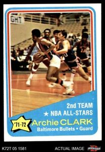1972 Topps #170 Archie Clark  - NBA All-Star - 2nd Team Bullets (Wizards) EXMT