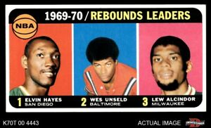 1970 Topps #5 Lew Alcindor  Wes Unsel Rockets  Bullets (Wizards)  Bucks VGEX