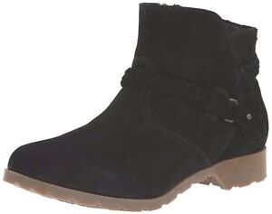 Womens Ankle Boots Black Teva Delavina Suede Zipper 6.5 7.5 8.5 $120 NEW $79.95
