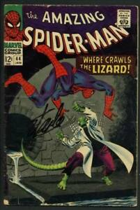 Stan Lee Signed Amazing Spider-Man #44 Comic Book The Lizard PSADNA #W18772