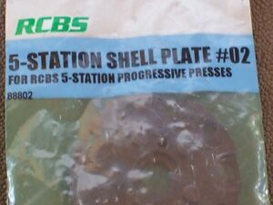 RCBS 5 Station Shell Plate #02 Unused in Package PRO2000 Ammomaster