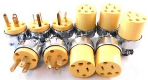 10 Extension Cord Replacement Ends 5 MALE 5 FEMALE Plug Electrical Repair $13.66