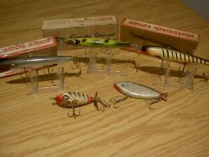VINTAGE OLD LURE SMITHWICK DEVIL HORSE BAIT IN BOX tackle box reel wood MIX LOT
