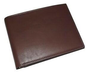 NEW BOSCA MEN'S NAPPA LEATHER EXECUTIVE BIFOLD CREDIT CARD ID WALLET BROWN