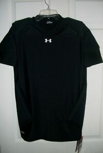 NEW UNDER ARMOUR BLACK MPZ PAD COMPRESSION SHIRT XXL 2X