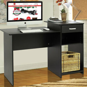 Computer Desk Home Office Wood Laptop Table Study Workstation Dorm with Drawer