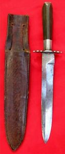 UNIQUE ~ ANTIQUE ~ SILVER MOUNTED ~ CALIFORNIA GOLD RUSH BOWIE KNIFE EARLY 1850s
