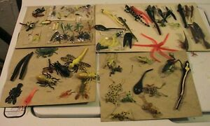 Vintage Fishing Lures HUGE LOT Of Vintage Rubber Lures