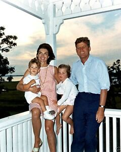 President John F. Kennedy with family Hyannis Port summer 1962 New 8x10 Photo