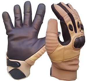 Coyote Tan  Sand Tactical Special Ops Kevlar Shooters GLOVES S-XL (