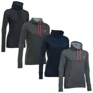 Under Armour Womens Featherweight Fleece Slouchy Top - New Funnel Neck UA 2018