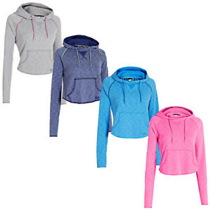 Under Armour Womens Rollick Cotton Hoodie - New Lightweight Hoody Gym Top