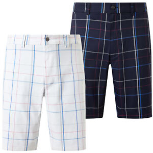 Callaway Golf Mens 2018 Large Scale Plaid Opti-Dri UV Repel Flex Shorts