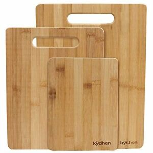 Natural Bamboo 3-piece Cutting Board Set