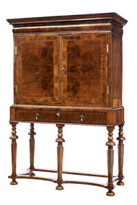 EARLY 18TH CENTURY WILLIAM AND MARY AND LATER WALNUT CHEST ON STAND