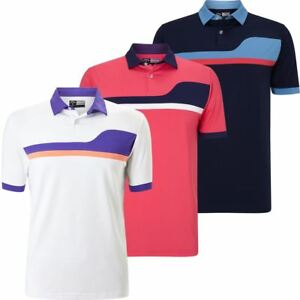 Callaway Golf 2018 Mens Opti-Dri Asymetrical Colour Block UV Repel Polo Shirt