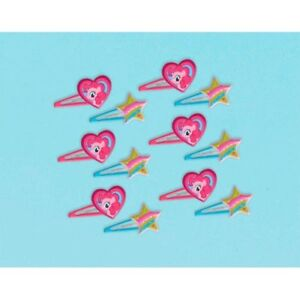 MY LITTLE PONY Friendship is Magic GLITTER HAIR CLIPS (12)~Party Supplies Favors