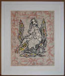 Listed French Surealist Artist Jean Lurcat Signed Original Lithograph Rare