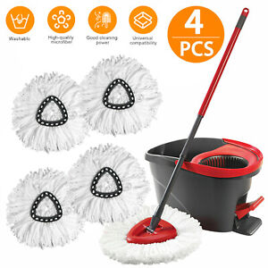 Replacement Heads Easy Cleaning Mopping Wring Spin Mop Refill Mop O Cedar 360° $14.98