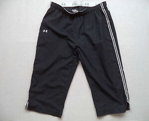 Womens UNDER ARMOUR fitness capris Sz S track pants athletic running gym hiking