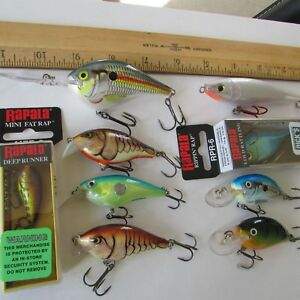 LOT OF 9 RAPALA  FISHING LURES