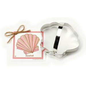 Seashell Cookie and Fondant Cutter - Ann Clark 4.9 Inches US Tin Plated Steel