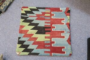Turkish Anatolian Kilim Pillow Cushion Hand Woven Wool 15