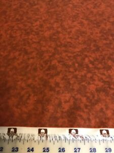 RUSTY ORANGE WOOD Blender cotton Fabric per yd sewing quilting crafts $7.99
