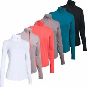 Under Armour 2018 Ladies Threadborne Streaker ½ Zip Womens Running LS Shirt