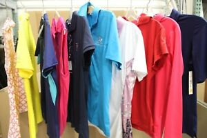 Lot of 50 Womens Golf Shirts Polos Sport Haley Cutter and Buck sz M MSRP $2500