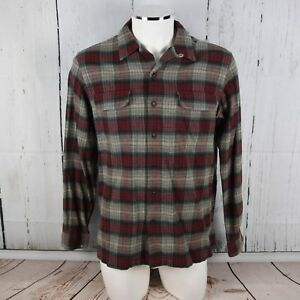 POLO SPORT RALPH LAUREN Men's sz Medium Red Gray Plaid Flannel Work Shirt