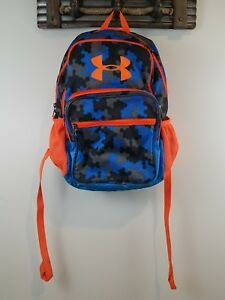 Under Armour Boy's Blue  Orange Camo Backpack