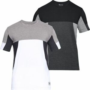 Under Armour 2018 Mens Charged Cotton Sportstyle Short Sleeve ColourBlock Top