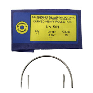 C.S. Osborne Pack Of 12 Curved Needles Heavy #501 3 1 2 Size 3 1 2quot; $14.95