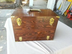 vintage wooden Tackle box for Ocean fishing