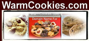 Warm Cookies .com Makes you want a cookie Domain Name Website Put Products Ur