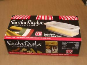 Microwave Pasta Cooker The Original Fasta Pasta As seen on TV NEW in box Unused