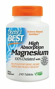 Doctor's Best High Absorption Magnesium 240 tablets HEART, CIRCULATION, BRAIN