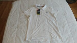 1 NWT UNDER ARMOUR GIRL'S GOLF SHIRT SIZE: X-LARGE COLOR: WHITE *B235