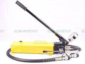 ECO 3L Double Acting Hydraulic Hand Pump with Pressure Gauge 10000 PSI